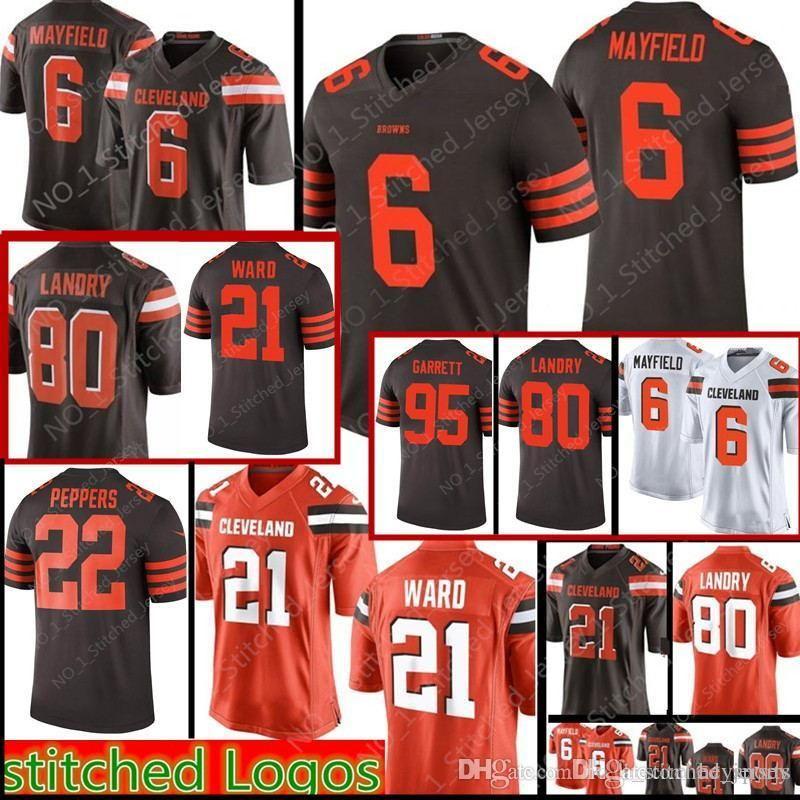 b0d4e9e8937 6 Baker Mayfield Cleveland Browns 21 Denzel Ward 80 Jarvis Landry ...