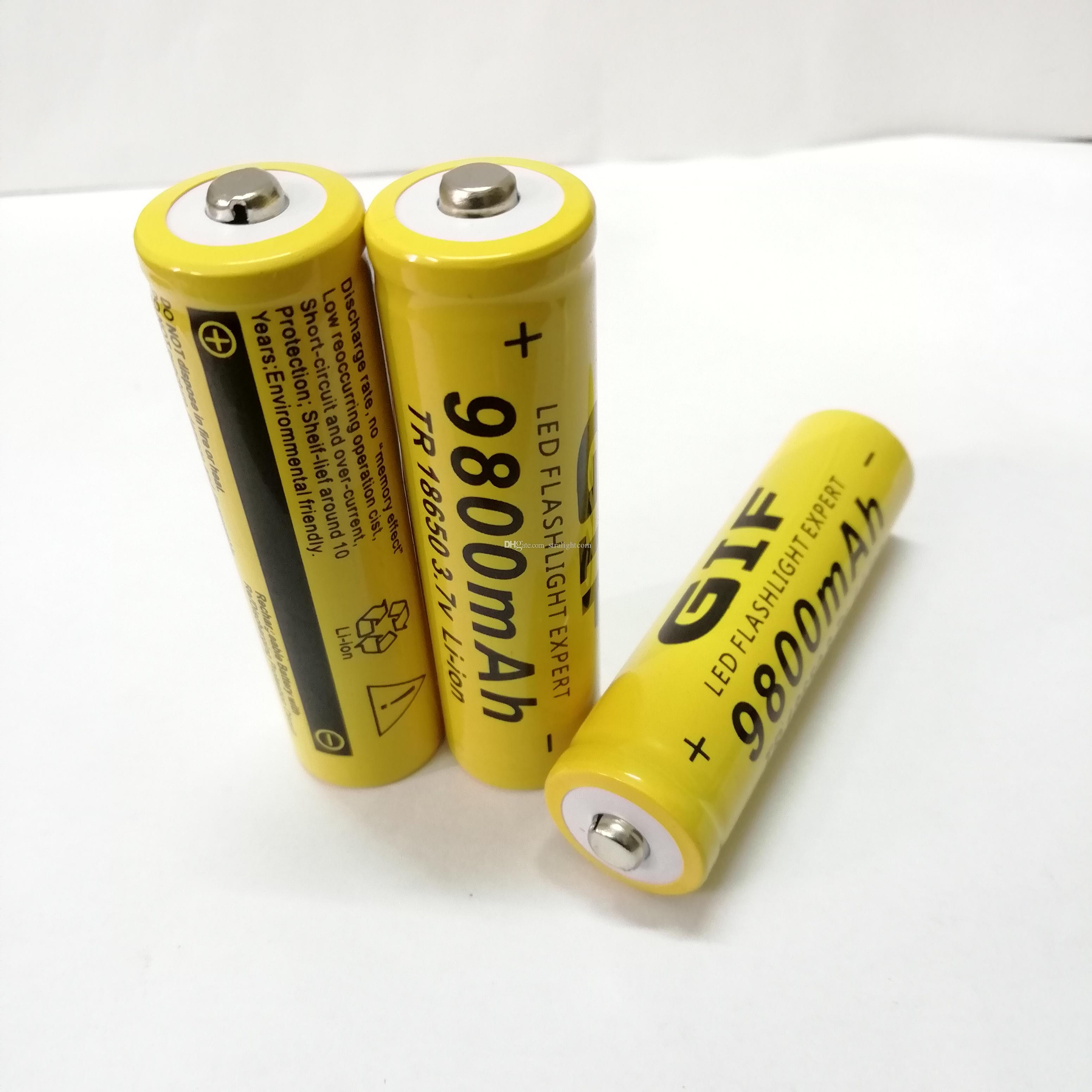 18650 GIF 9800mAh 3.7v pointed lithium battery can be used for electronic products such as bright flashlight. F