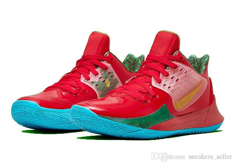 2019 Kyrie Low 2 Mr Krabs Zapatillas de baloncesto en venta La mejor calidad Spongebobs Collection Sneakers Sport con caja Szie 7 12