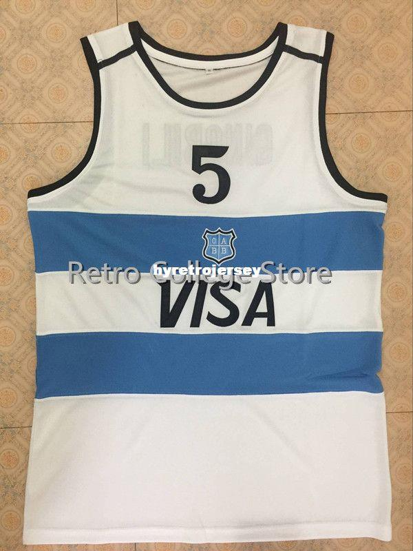 6ba5caf9f3 2019 #5 Manu Ginobili Team Argentina Navy Blue Sewn Retro Top Basketball  Jersey Customize Any Size Number And Player Name Vest Jerseys From  Hyretrojersey, ...