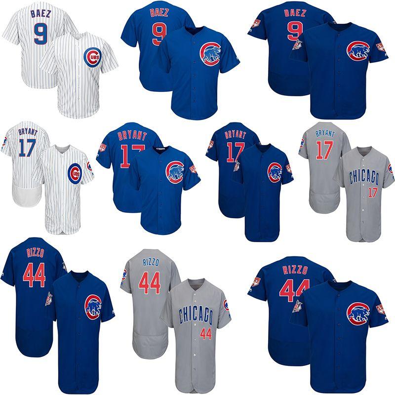 best service 35c8a 0129f Chicago 44 Anthony Rizzo Baseball Jersey 17 Kris Bryant 9 Javier Baez Men  Jerseys