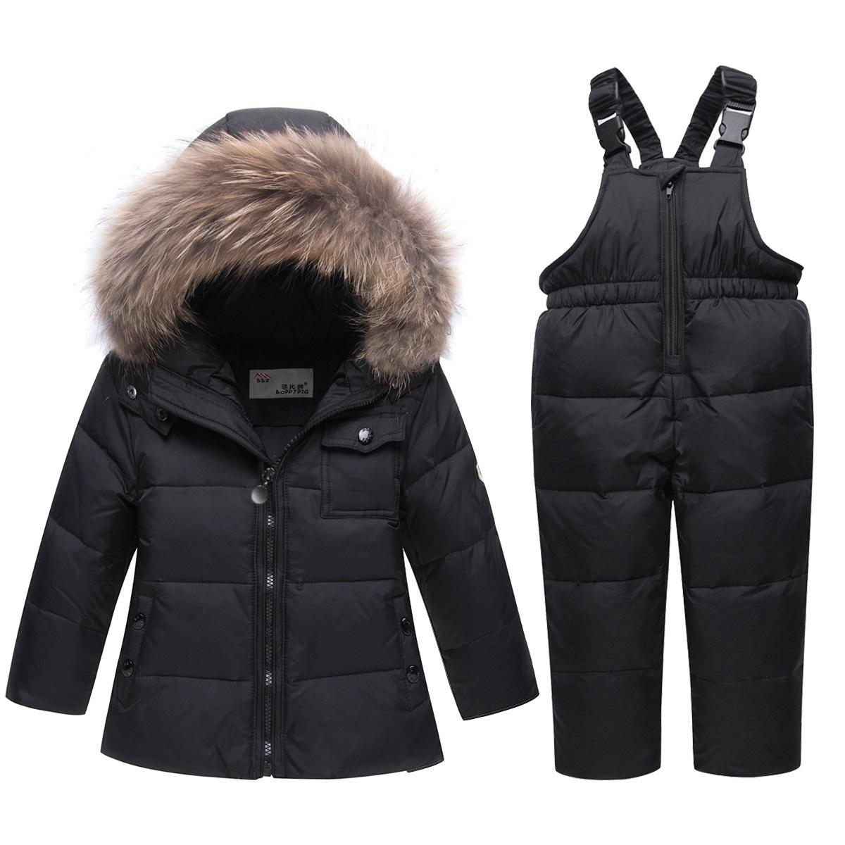 2b680fc3e OLEKID 30 Degree Winter Children Boys Clothes Set Warm Down Jacket ...