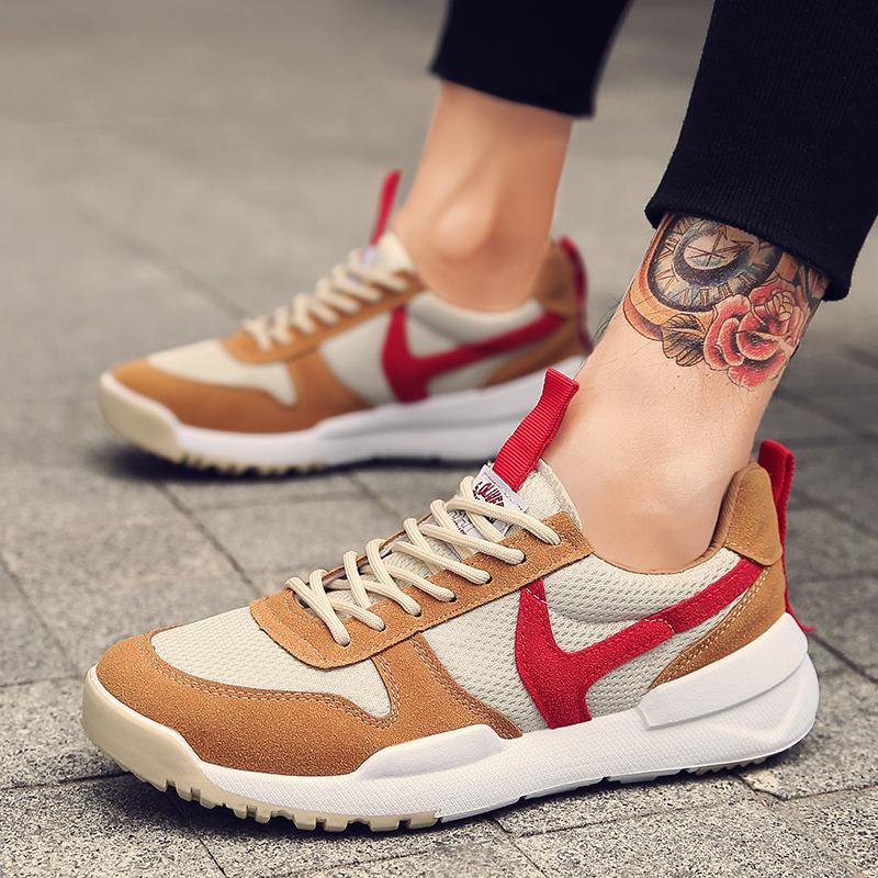 10e1b578ecd Compre 2019 Zapatos De Cordones Para Hombre De Marca De Lujo Con Cordones De  Primavera Zapatos Casuales Blancos Hombres Colores Mezclados Zapatos Para  ...