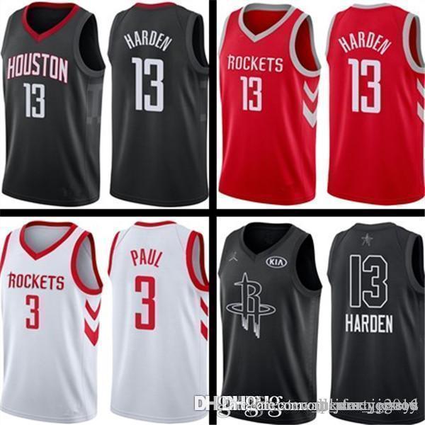 7bb0080c037 2019 MENS Houston 7 Carmelo 7 Anthony Rockets Jersey James 13 Harden Chris  3 Paul Basketball Jerseys From All star jerseys