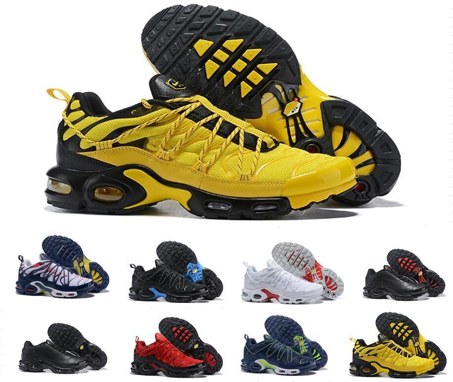 Nike Air tn plus 2019 Top champagnepapi Mercurial Plus Tn Ultra SE Negro Blanco Naranja Amarillo Zapatos de diseño Más zapato TN Mujer Hombre