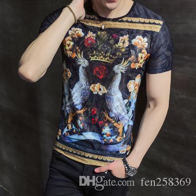 6969e28c877 2019 Summer Men S Short Sleeved T Shirt Korean Version Of The Body Shirt  Student Round Neck Ice Silk Handsome Clothes Men S Tide Buy Tshirt  Political Shirts ...