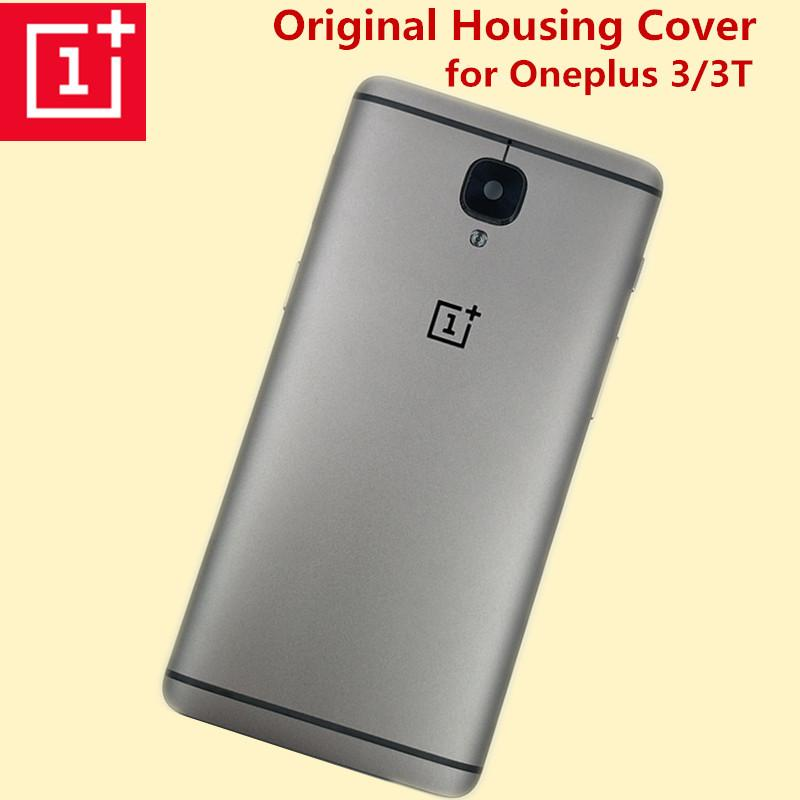 more photos a9d0b f0b2f Original ONEPLUS 3 3T Three Metal Rear Housing Cover Replacement Back Door  Battery Case Card Slot/Side Button/Lens Glass