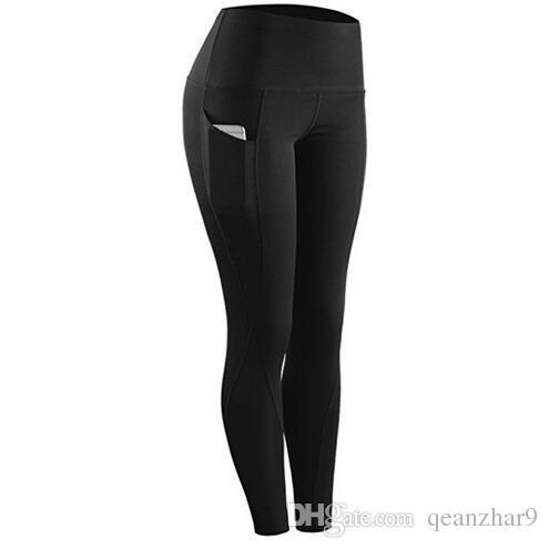 519a240a6857b7 2019 Black High Waist Pocket Sports Legging For Women New Plus Size Women  Fashion Leggings Pants Elastic Fitness Training From Qeanzhar9, $3.02 |  DHgate.Com