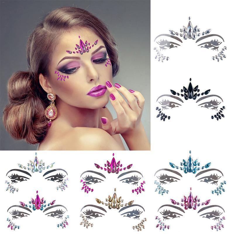 Music Festival Face Diamond Sticker Eco Friendly Resin Crystal Rhinestone  Sticker Holiday Party Dance Eyebrows Face Adhesive Make Tattoo Online Make  Your ... f9b29f158149
