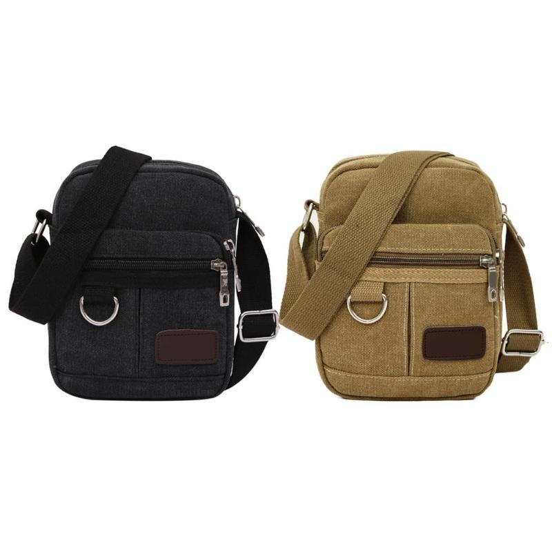 57f5f6cfd61b Fashion Men Canvas Mini Crossbody Bag Travel Casual Outdoor Shoulder Bag  Cross Body Vintage Men Zipper Sling Bags Messenger Bags Satchel From  Totebeauty