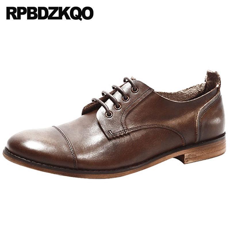 219329aa74eb6 Compre Zapatos De Vestir Con Suela De Goma Estilo Británico Italiano  Vintage Oficina De Alta Calidad Cuero Real Europeo Lujo Hombres Oxfords  Genuino Italia ...