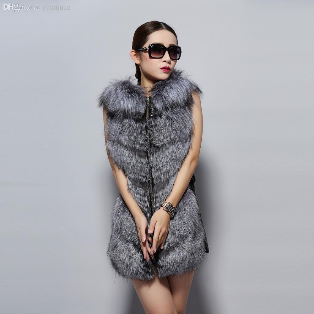 7edf432e0d Fur Story 14235 2015 New Arrival Fashion Design Real Silver Fox Fur ...