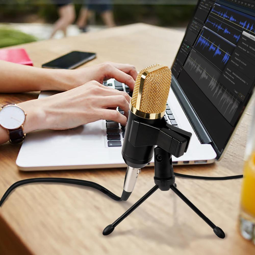 FIFINE Condenser Microphone with Tripod Stand Microphone Clip USB Socket suit for PC Macbook for Online Teaching Chatting k058