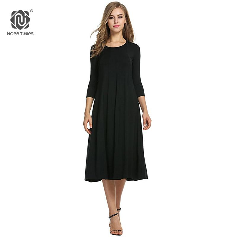 2018 Women Cotton And Linen Vintage Dress Casual Loose Solid Long Draped Dresses Plus Size 2XL 3XL Large Size Party