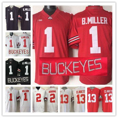 the latest d3b98 42d94 1 Braxton Miller Ohio State Buckeyes NCAA Jerseys Mens 1 Dontre Wilson 2  Dobbins 13 Clarett All Stitched College Football Jerseys