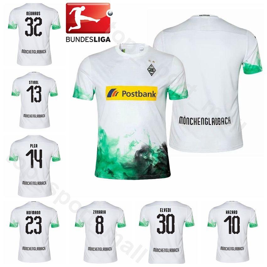 3a5bfdba0b4d7 Acheter 2019 2020 Hommes Football Borussia Monchengladbach Maillot 14 PLEA  23 HOFMANN NEUHAUS HERRMANN STINDL STROBL ELVEDI Maillot De Football Kits  ...