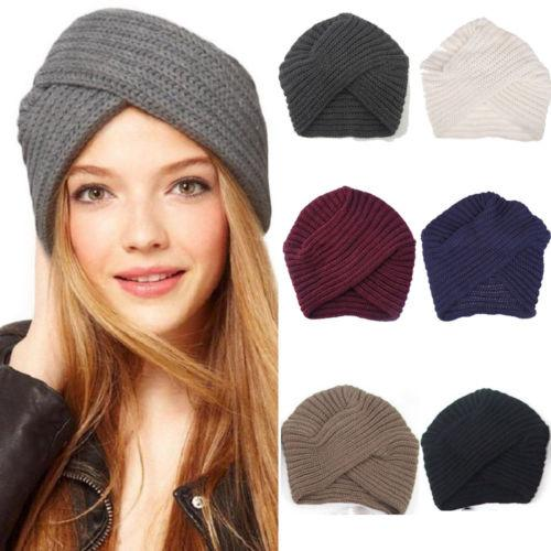 e68ff9df2ac4 Hot Women Men Beret Winter Warm Baggy Beanie Knit Crochet Hat Slouch ...