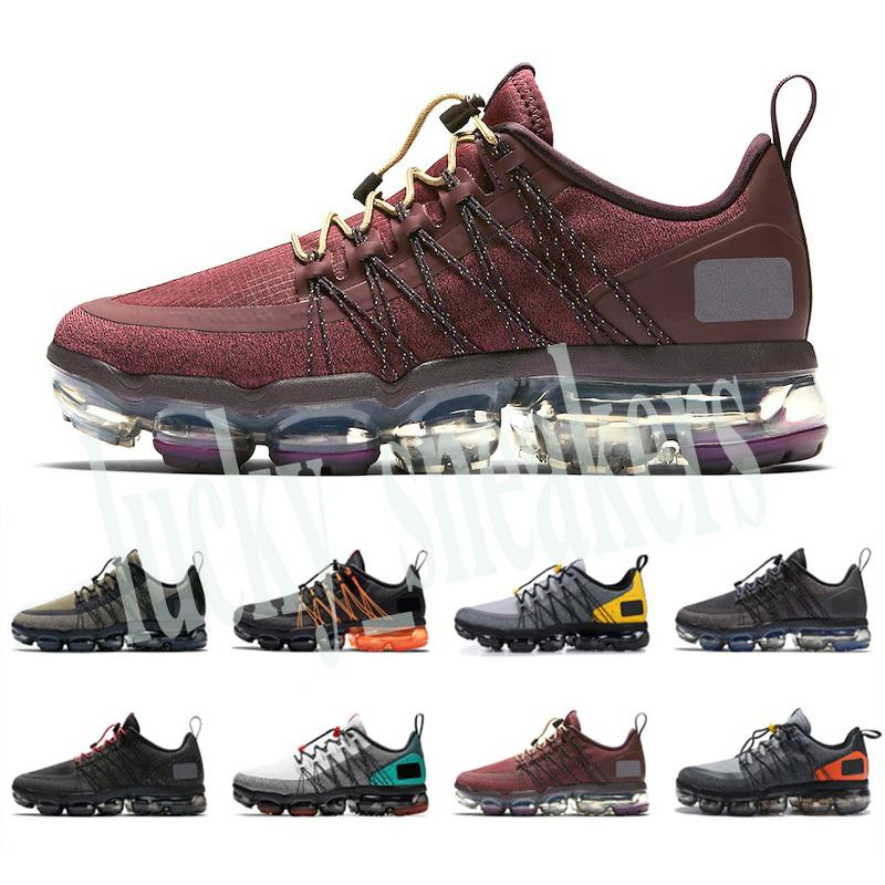 2019 Run UTILITY mens running shoes triple black white Medium Olive Burgundy Crush mens trainers fashion breathable sports sneakers l56