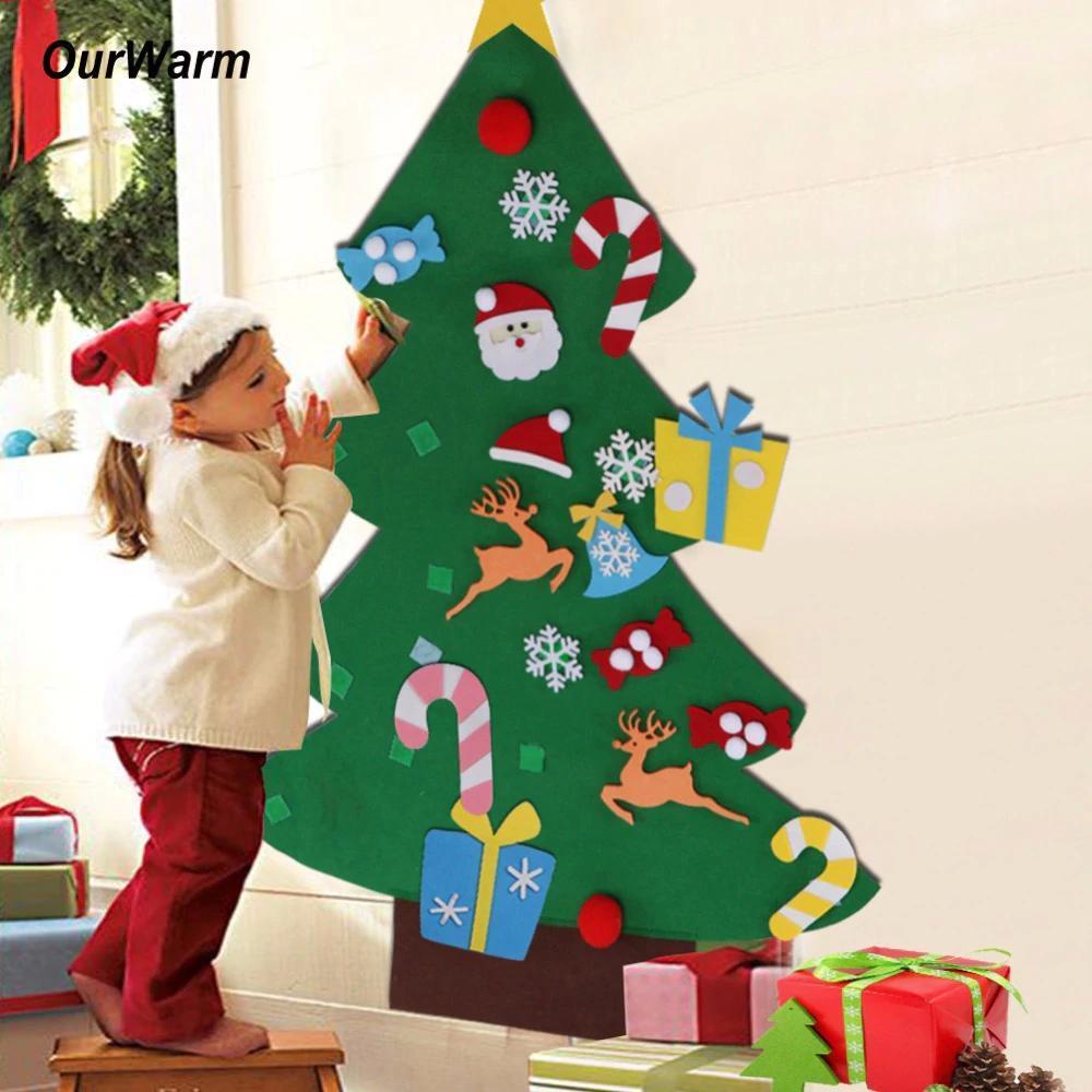 Regali Di Natale Fai Da Te Per Bambini.Regali Di Capodanno Bambini Fai Da Te Feltro Decorazioni Per L Albero Di Natale Regali Di Natale Per Appendere Gli Ornamenti