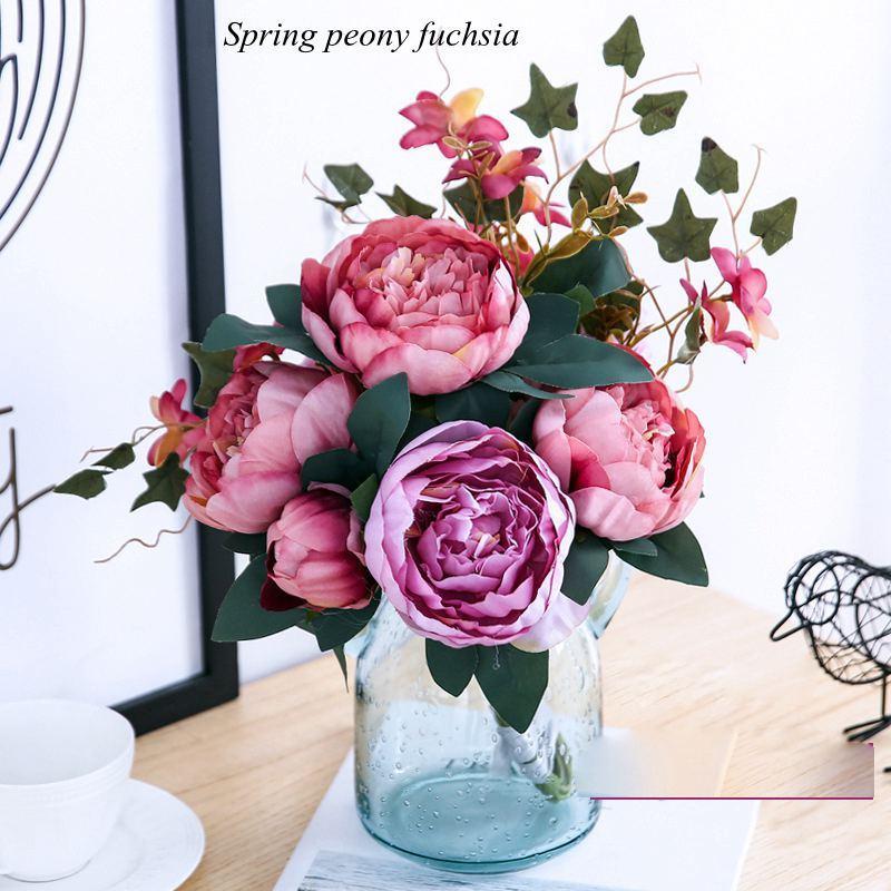 Hight Quality Silk Flower European Flower Bouquet Artificial Flowers