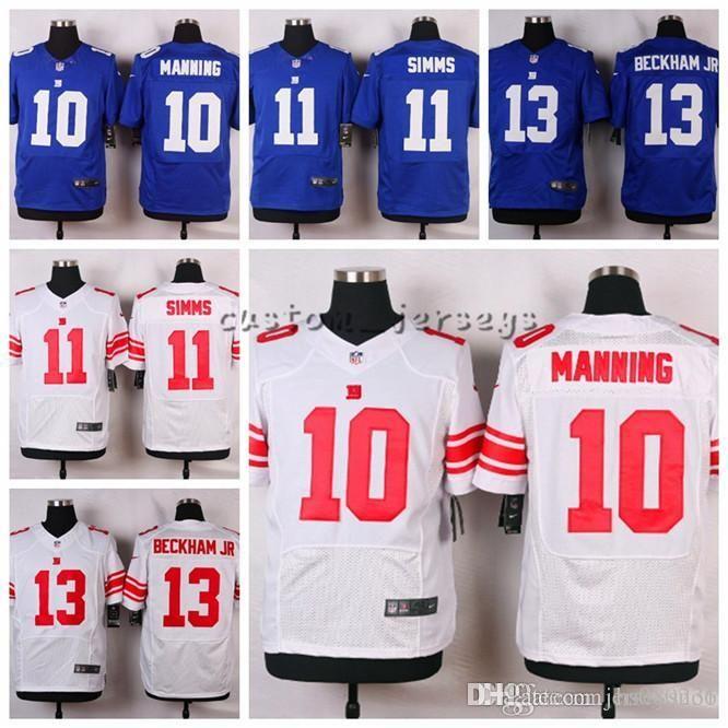 98fcf021a 2019 Custom New York Giants  13 Odell Beckham Jr 11 Phil Simms 10 Eli  Manning Elite Football Jerseys From Jerseysno4