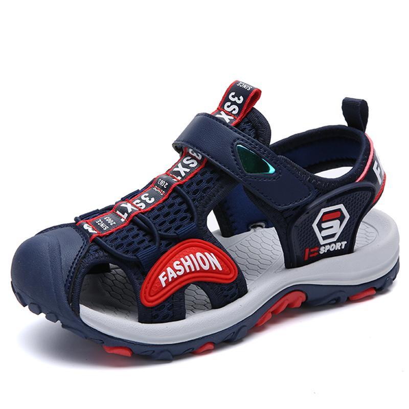 c49bef1b Compre Zapatos De Verano Para Niños Transpirable Sandalias Para Niños Playa  Niñas Niños Sandalias Zuecos Al Aire Libre Zapatillas Planas Calzado  Informal ...