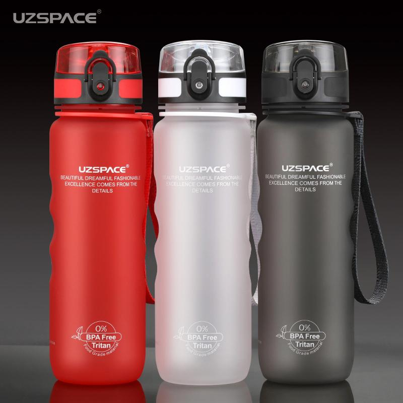 Uzspace Sports Water Bottles Direct Drink&straw 2 Style My Bottle For Water 500ml Portable Leakproof Plastic Drinkware Bpa Free C19041601