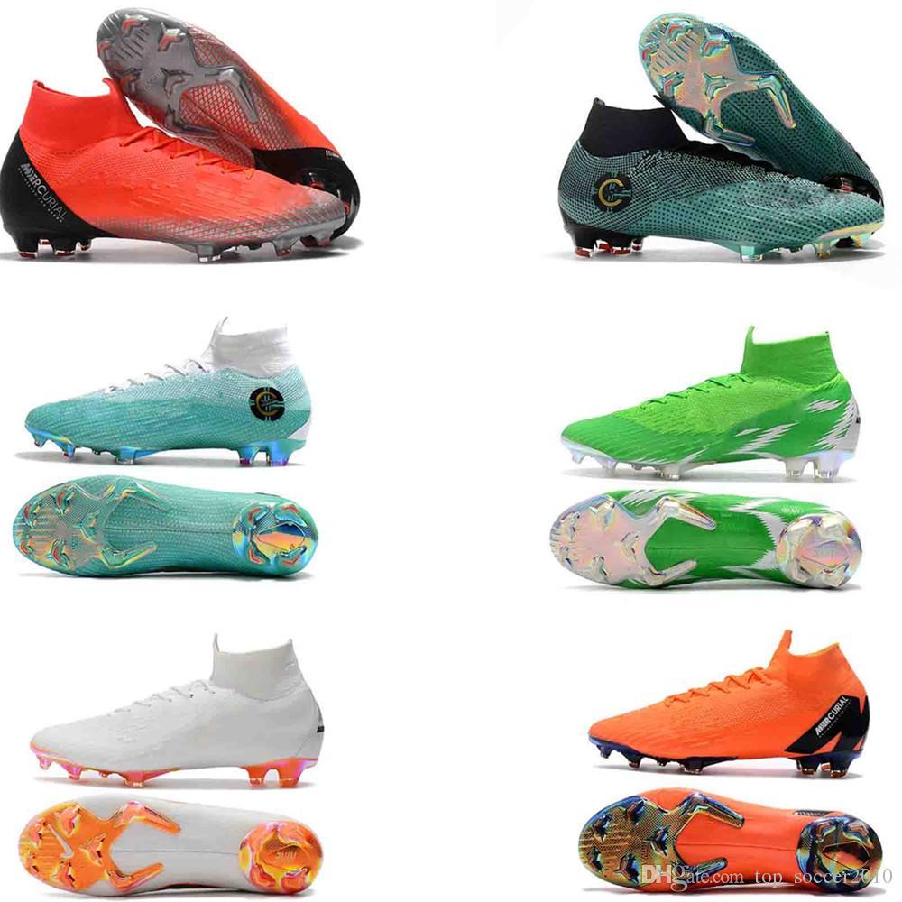 2019 WOMEN MEN High Top Original CR7 Soccer Cleats Mercurial Superfly VI  360 Elite CR7 FG Soccer Shoes Cristiano Ronaldo Neymar Football Boots From  ... 92a51d259