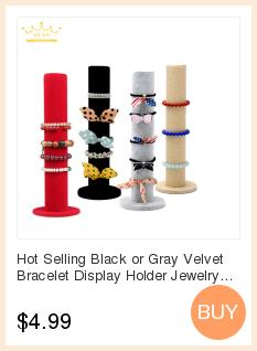 Black Velvet Organizer Jewelry Display Rolls Folding Travel Storage Portable Bag For Pendant Stand Holder Case