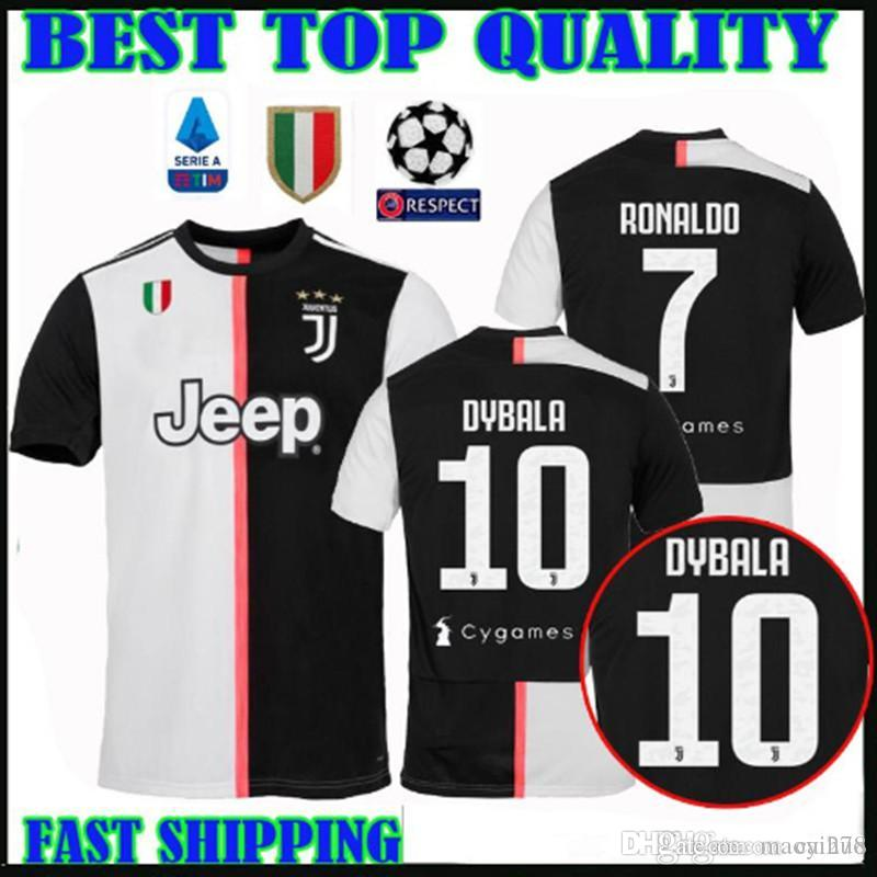 19 20 Juventus soccer jerseys RONALDO DYBALA 2019 2020 new Serie A Logo  home MANDZUKIC Bonucci MATUIDI PJANIC JUVE Football shirts