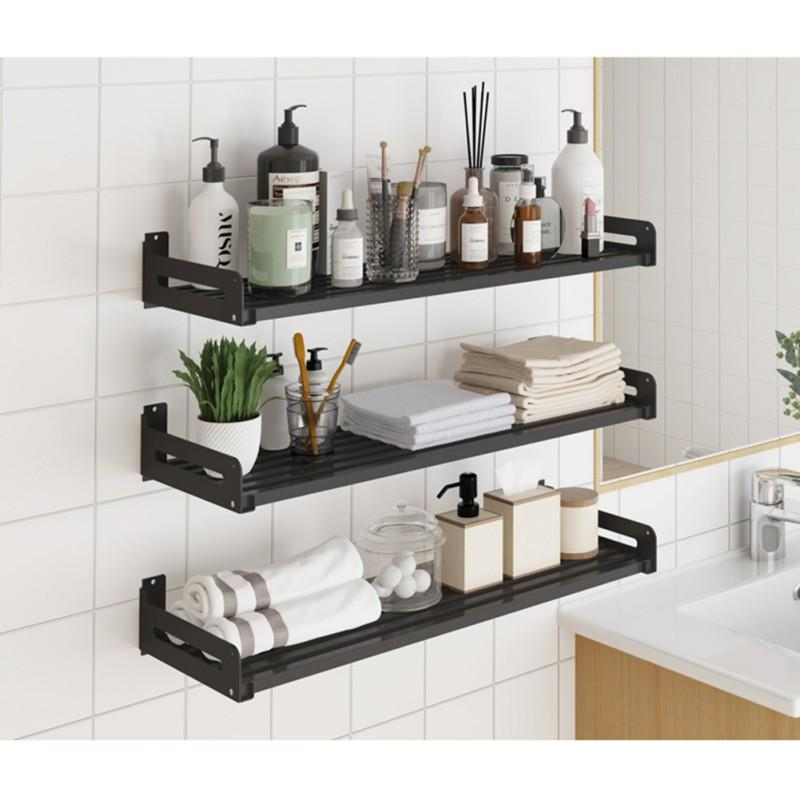 Metal Wall Shelve Wall Mounted Floating Shelves Stainless Steel Decorative Storage Rack For Bathroom Kitchen Bedroom Living Room