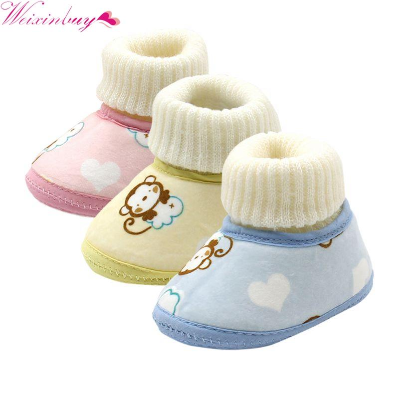 Baby Shoes Infants Winter sale Wool Booties Crochet Boots Snow Toddler cheap Girl Knit Boy Fleece Shoes