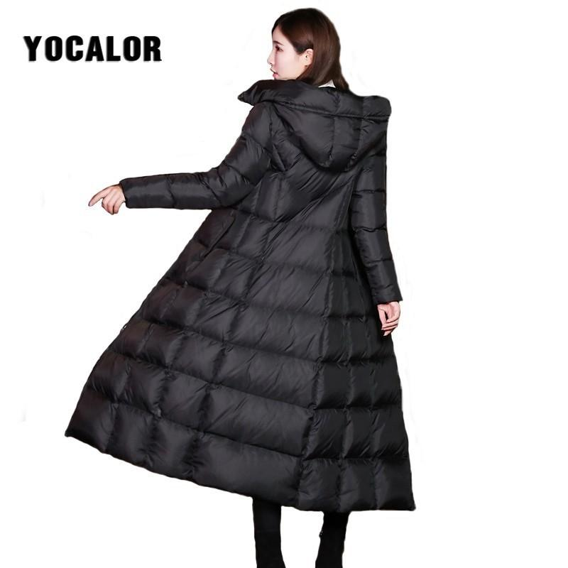 ca69dec64c91 Female Coat Winter Suit Puffer Warm Quilted Long Jacket Hooded Parka ...