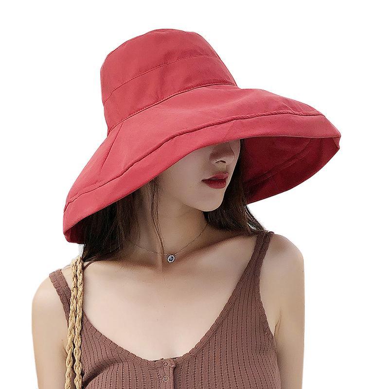0c0a776d6caa8 Wide Brim UV Protection Bucket Hat Womens Sun Protector Hat Woman Hats  Beach Fishing Outdoor Cap Foldable Girls Summer Caps Flat Brim Hats Mens  Straw Hats ...