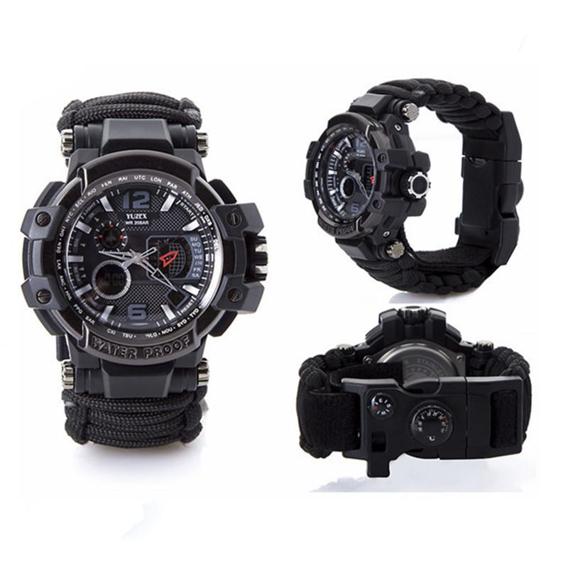 New Outdoor Survival Watch Bracelet Multi-functional Waterproof 50M Watch For Men Women Camping Hiking Military Tactical Camping Tools (4)