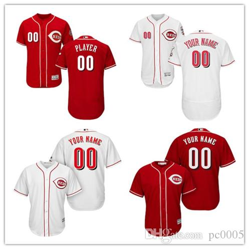f4406772f 2019 Men S Cincinnati Reds Majestic Alternate Scarlet Flex Red White Cool  Base Authentic Collection Custom Jersey From Pc0005