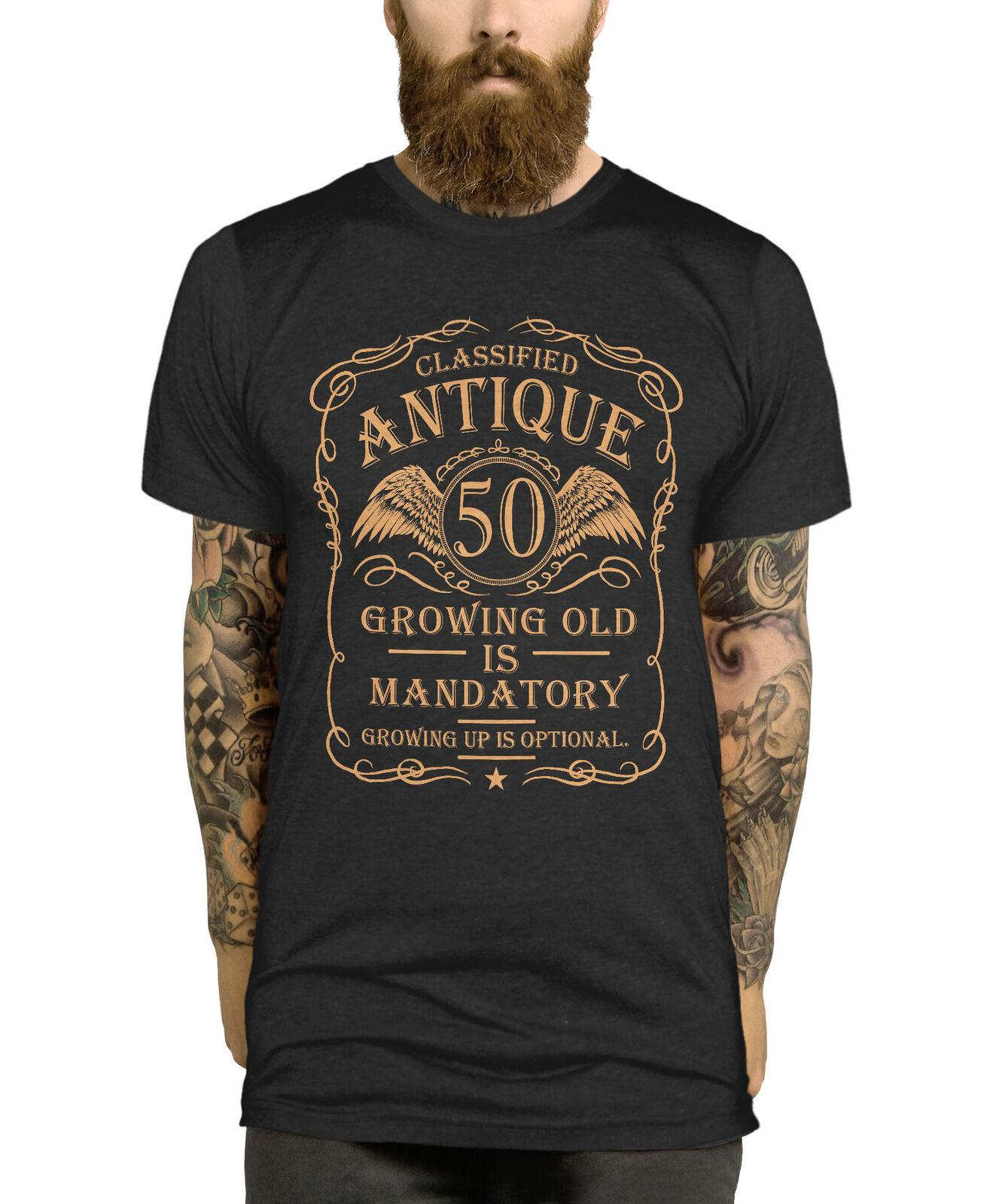 50th Birthday T Shirt Gift Idea For Men Funny Present Vintage 50 Year Old Man