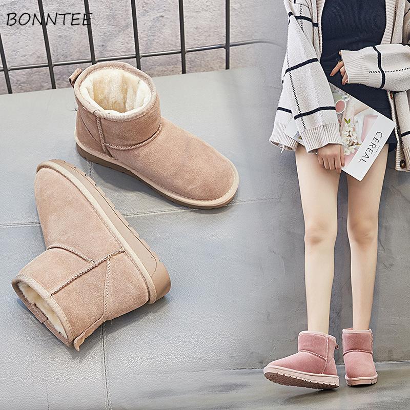 590b0127cec Boots Women Winter Cute Warm Australian Ankle Boot Student Trendy Thicker  Plush Non-slip Flat Platform Ugly Snow Shoes Womens