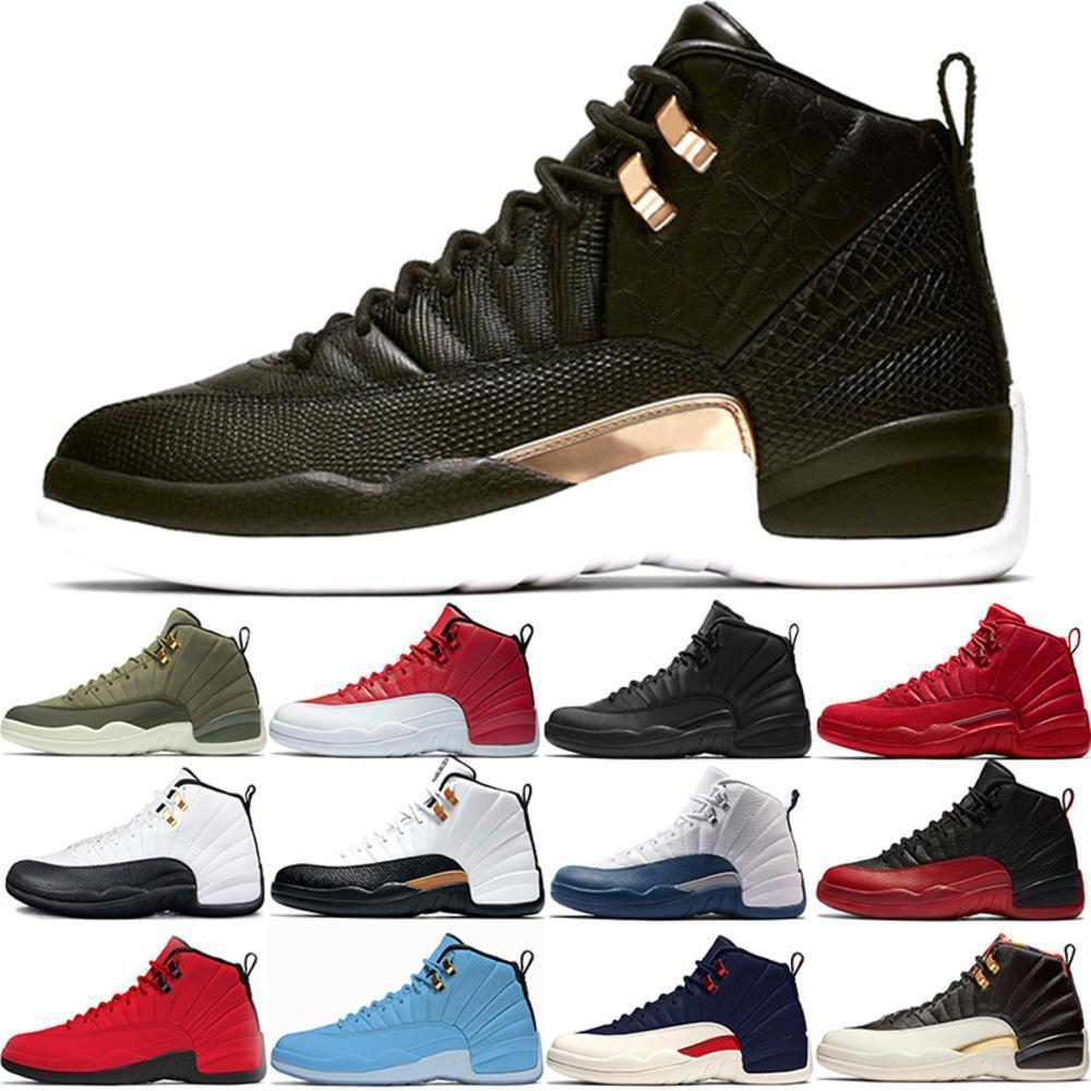 I nuovi 12 pattini di pallacanestro del Mens Il Master Gym Red 12s XII Midnight Black Winterized Flu Game Designer Sport Sneakers Formatori formato poco costoso 41-47