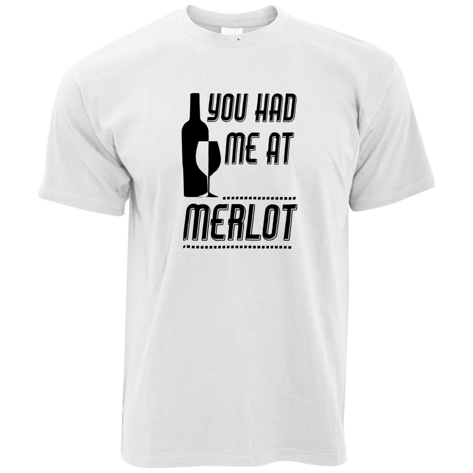e71e6507 Novelty Drinking T Shirt You Had Me At Merlot Slogan Party Wine Dating Mum  Men Women Unisex Fashion Tshirt T Shirts Online Shopping Buy T Shirts From  ...