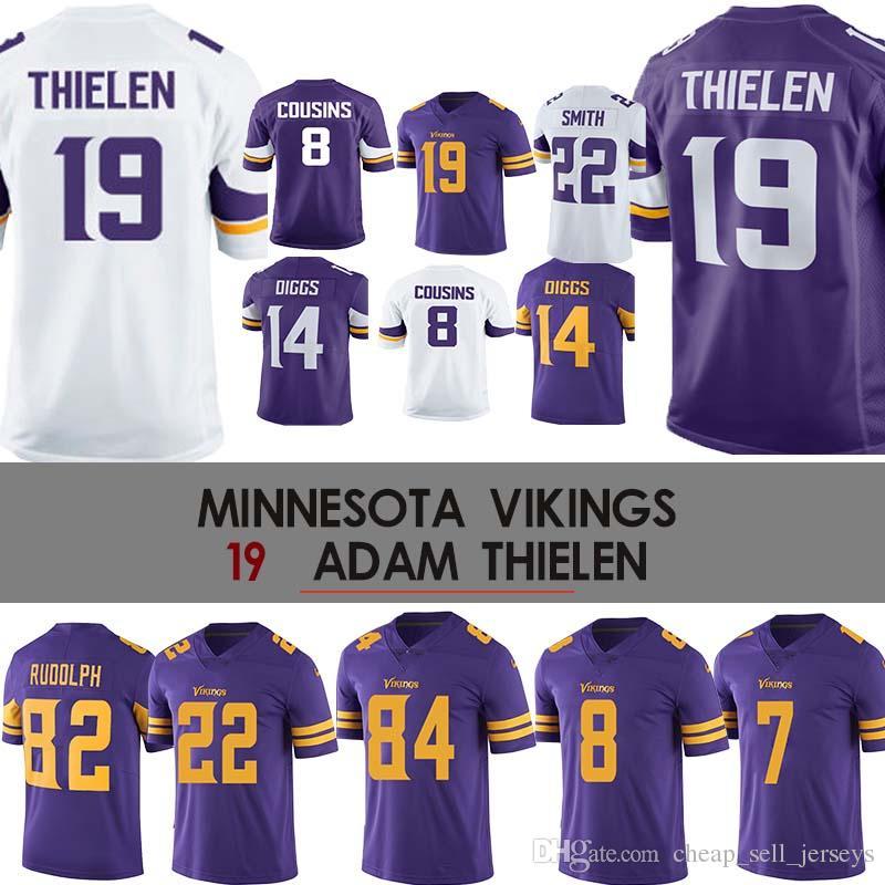 the best attitude cb2de 472b3 19 Adam Thielen Jersey Vikings Jersey 22 Harrison Smith 8 Kirk Cousins  Minnesota 84 Randy Moss 14 Diggs 22 Smith