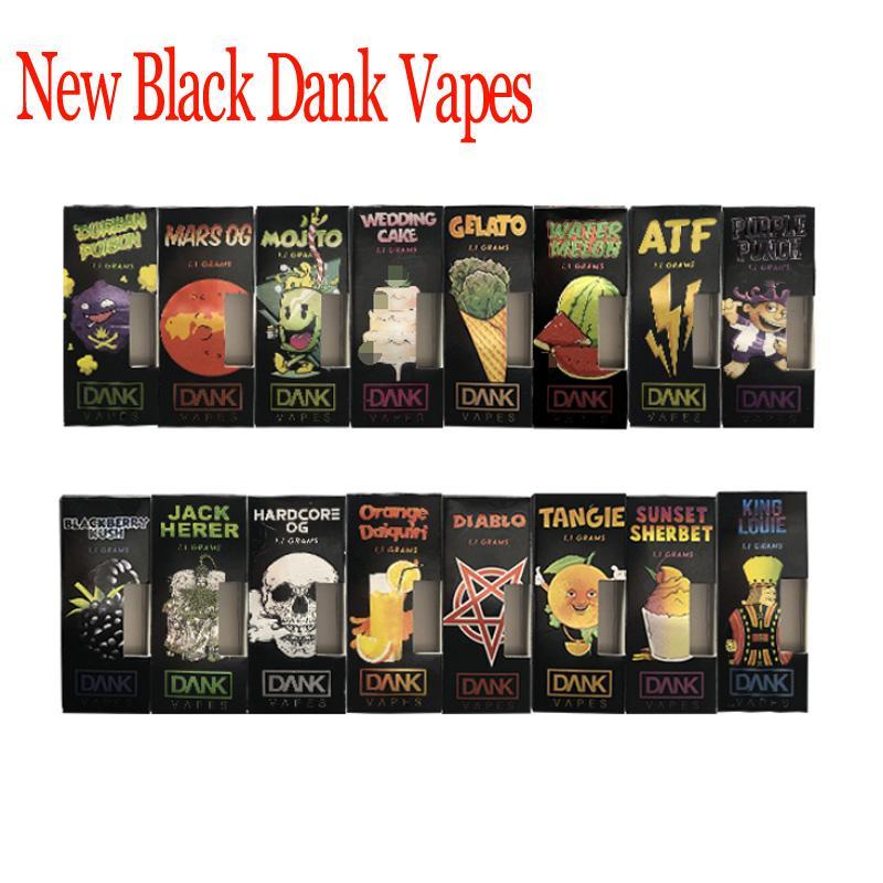 2019 Newest 41 Flavors Black Dank Vapes Packaging Box For 1 Gram Ml