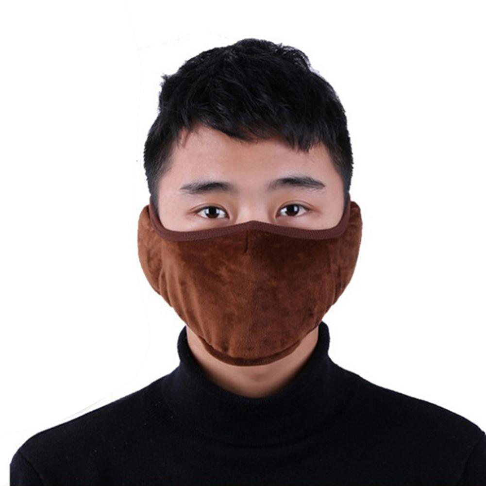 Outdoor Solid Color Unisex Winter Warm Windproof Breathable Mask Earmuffs Earmuffs Comfortable Riding Accessories