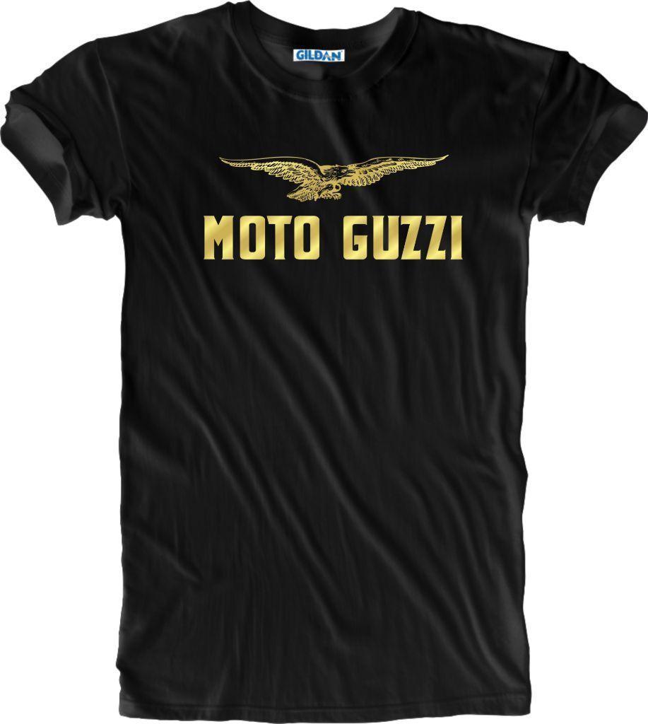 Gold Foil Print Unisex Moto Guzzi Motorcycle Biker Vintage Retro T