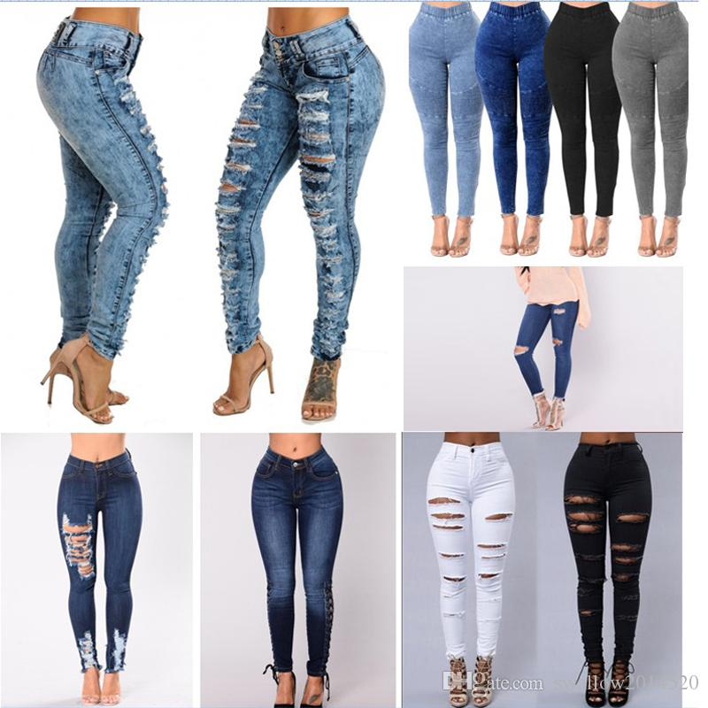 49f82861e748c 2019 2018 Women Skinny Jeans Push Up High Waist Pants Ladies Casual Slim  Fit Long Pants Female Trousers 6 Styles From Swallow2014520