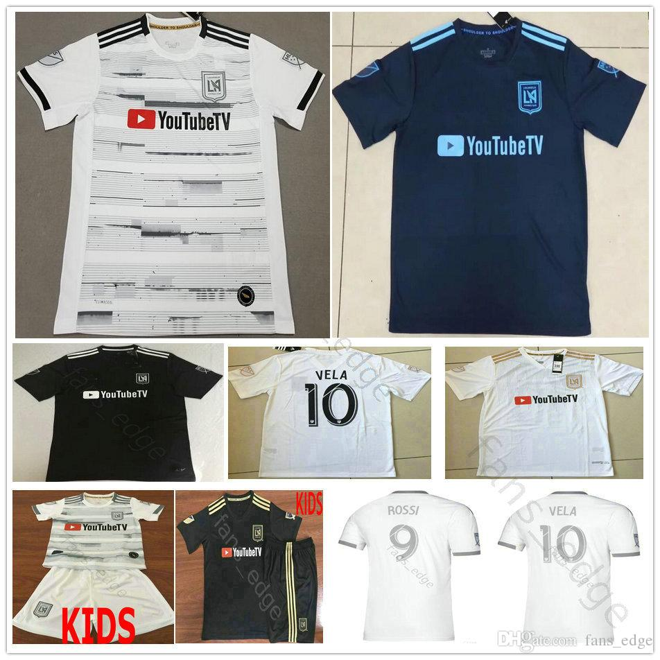 7f6df81dd73 2019 19 20 Parley Los Angeles FC Soccer Jerseys GABER ROSSI 10 VELA CIMAN  ZIMMERMAN Custom Black White LAFC Adult Kids Youth Football Shirts From  Fans_edge, ...