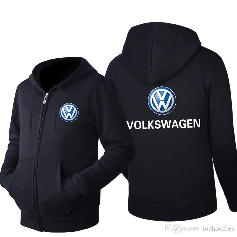 8bcf1a191 Compre Primavera Outono Cardigan Homens VW Hoodies Popular Jaqueta Hip Hop  Volkswagen Logotipo Roupas Moda Casual Camisola Sportswear Casacos Com  Zíper De ...