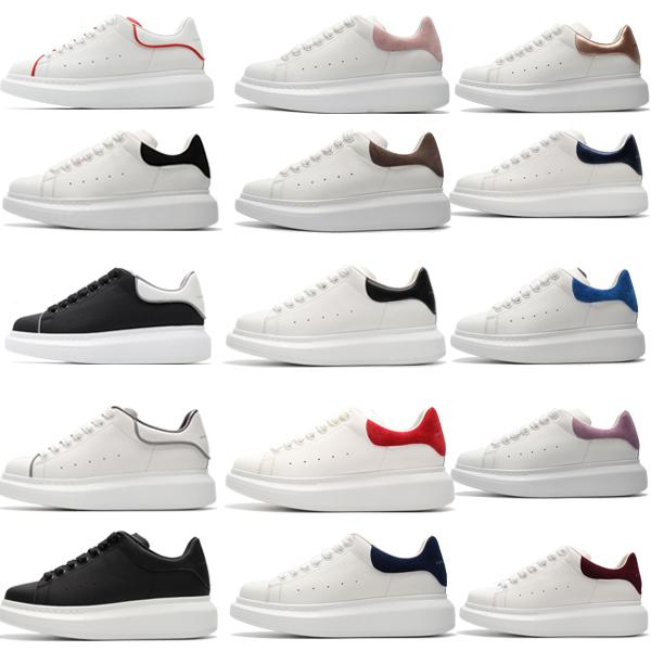 2019 top designer models men women fashion leather Mcqueens platform increase casual shoes mens chaussures low sneakersd3f5#