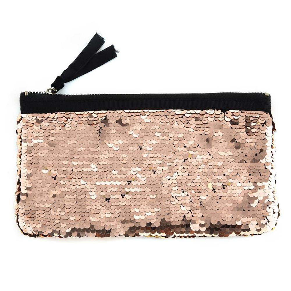 ccfac3c28e8e8 Großhandel Frauen Make Up Doppel Farbe Pailletten Brieftasche Kartenhalter  Brieftasche Stift Geldbörse Taschen Luxus Handtaschen Frauen Taschen  Designer Von ...