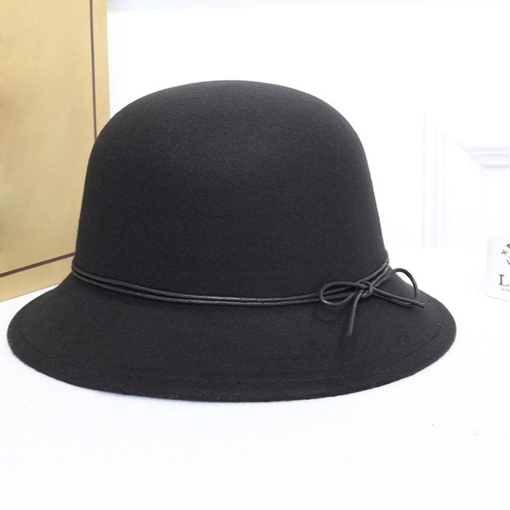 9a209708e710fc 2019 ISHOWTIENDA Noble Wool Fedoras Hat For Women Hat Fashion Bow Knot Cap  Vintage Elegant Female Cap Brand Soft Girls Chapeu Wholesa From Chuancai,  ...